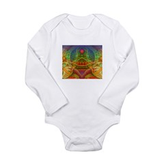 Orchid Seed Long Sleeve Infant Bodysuit
