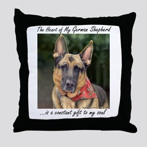"German Shepherd ""Ripkin"" Throw Pillow"