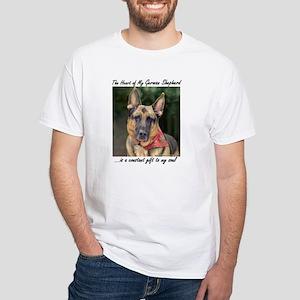 "German Shepherd ""Ripkin"" White T"