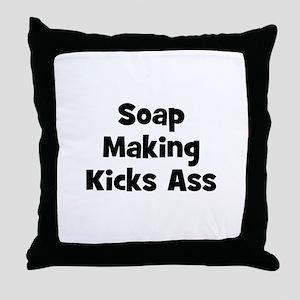 Soap Making Kicks Ass Throw Pillow