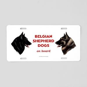 Belgian Shepherd Dog Aluminum License Plate
