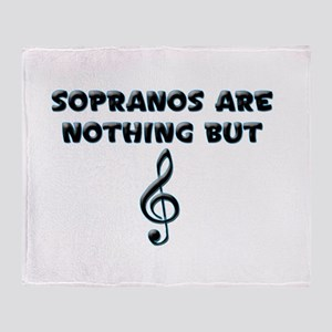 Sopranos are Treble Throw Blanket