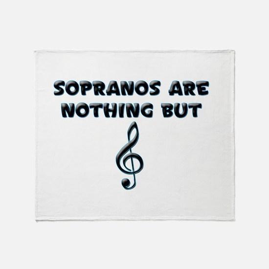 Sopranos are Treble Throw Blanket