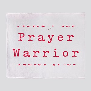 Prayer Warrioir Throw Blanket