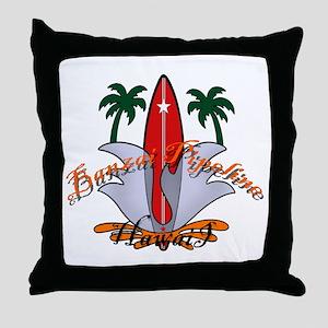 Banzai Pipeline Throw Pillow