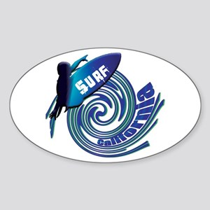 Surf California Sticker (Oval)