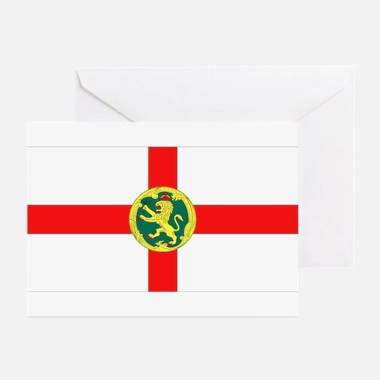 Alderney Flag Greeting Cards (Pk of 10)