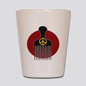 Peace and Nappyness Shot Glass
