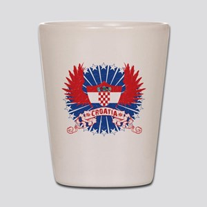 Croatia Winged Shot Glass