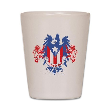 Boricua Crowned Shot Glass
