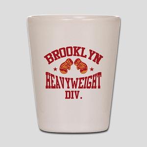 Brooklyn Heavyweight Red Shot Glass