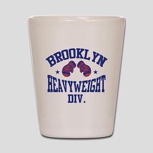 Brooklyn Heavyweight Blue Shot Glass