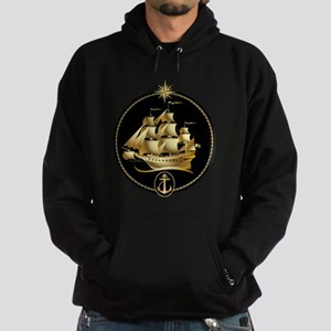 golden sailboat Hoodie (dark)