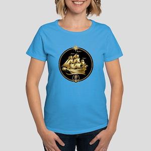 golden sailboat Women's Dark T-Shirt