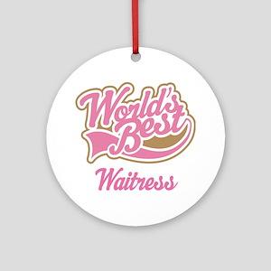 Waitress Gift Ornament (Round)