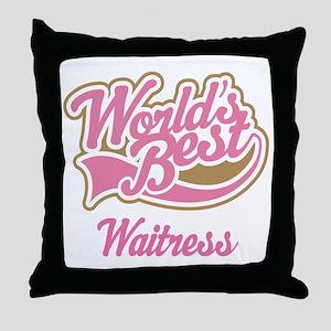 Waitress Gift Throw Pillow