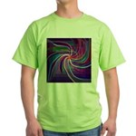 Perceptual Spiral Green T-Shirt