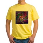 Perceptual Spiral Yellow T-Shirt