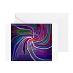 Perceptual Spiral Greeting Card