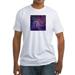 Perceptual Spiral Fitted T-Shirt