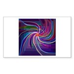 Perceptual Spiral Sticker (Rectangle 50 pk)