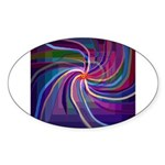 Perceptual Spiral Sticker (Oval 10 pk)