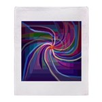 Perceptual Spiral Throw Blanket