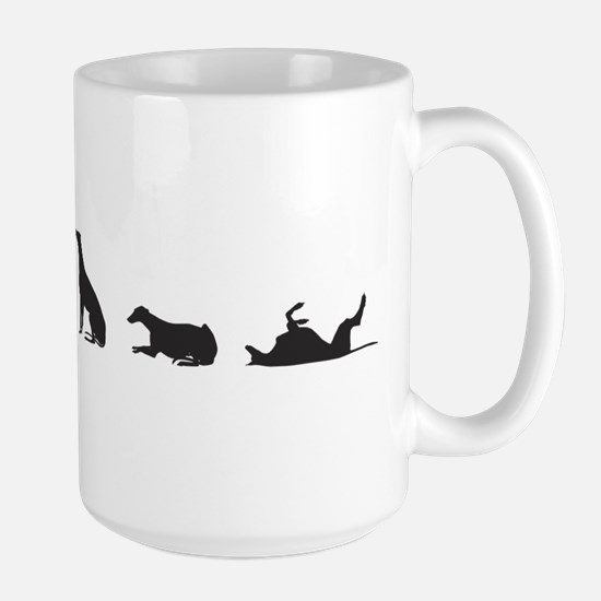 Greys in Silhouette Large Mug