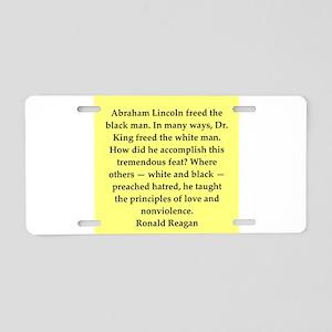 Ronald Reagan quote Aluminum License Plate