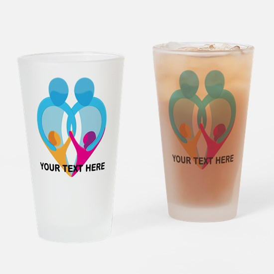TWO DADS Drinking Glass