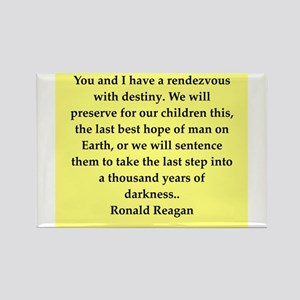 Ronald Reagan quote Rectangle Magnet