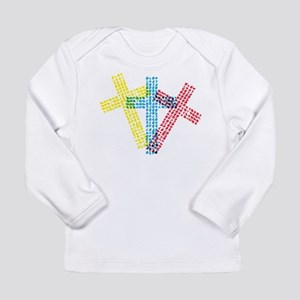 3 Christian Crosses Long Sleeve Infant T-Shirt