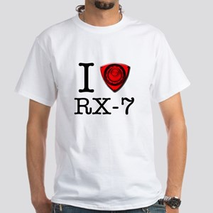 I love RX-7 White T-Shirt