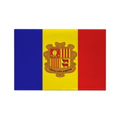 Flag of Andorra Rectangle Magnet (10 pack)