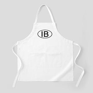 IB - Initial Oval BBQ Apron