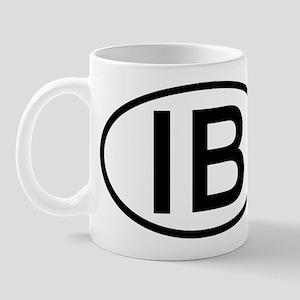 IB - Initial Oval Mug