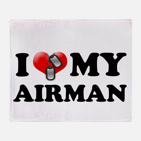 I (heart) my Airman Throw Blanket