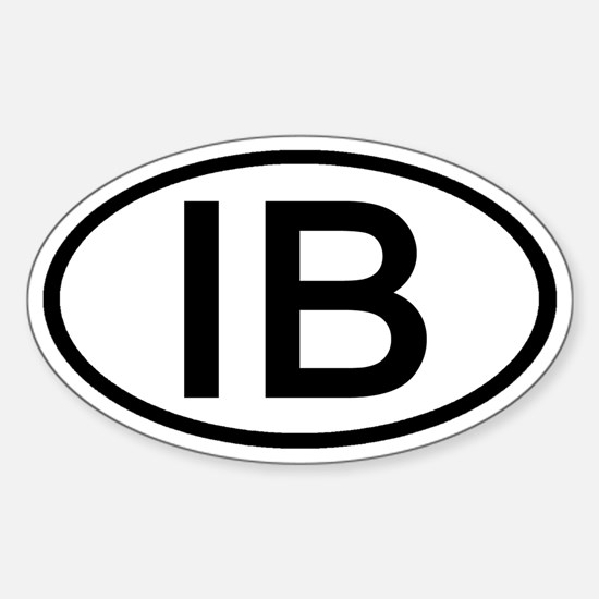 IB - Initial Oval Oval Decal