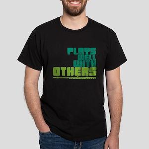 Flute Plays Well Dark T-Shirt