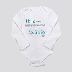Hero Long Sleeve Infant Bodysuit