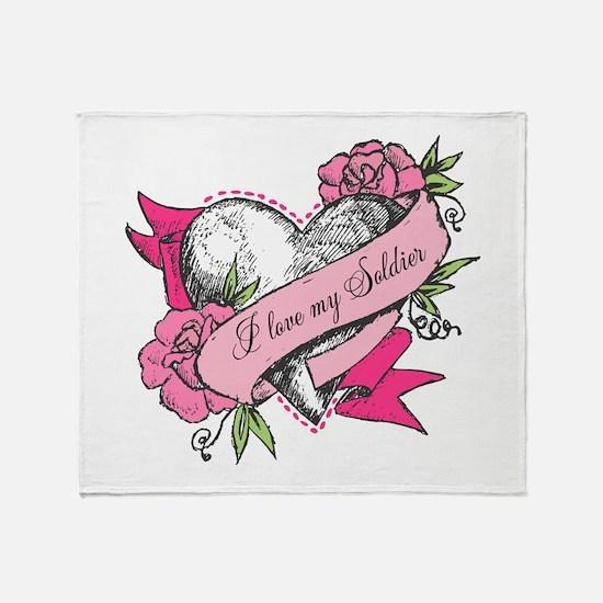 Heart & Roses Throw Blanket