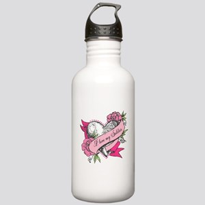 Heart & Roses Stainless Water Bottle 1.0L