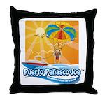 Parasailing in Mexico Throw Pillow