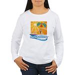 Parasailing in Mexico Women's Long Sleeve T-Shirt