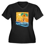 Parasailing in Mexico Women's Plus Size V-Neck Dar