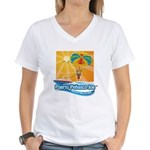 Parasailing in Mexico Women's V-Neck T-Shirt