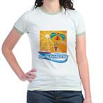 Parasailing in Mexico Jr. Ringer T-Shirt