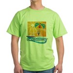 Parasailing in Mexico Green T-Shirt