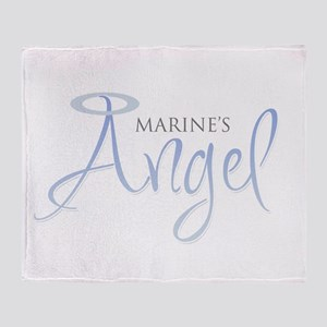 Marine's Angel Throw Blanket