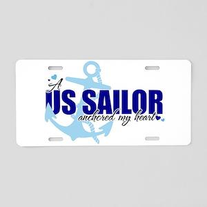 A U.S. Sailor Anchored My Heart Aluminum License P